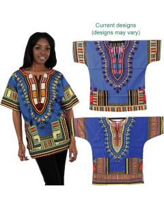 African Traditional Dashiki - Blue
