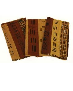 Authentic African Bambara Mud Cloth - Multicolored