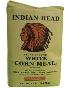 Indian Head - Stone Ground White Corn Meal - 5lbs