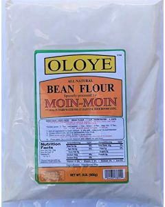 Oloye - All Natural Bean Flour | For Moin-Moin, Beans Tamales (Koki, Akara, Kwose, Gbegiri) - 2lbs