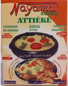 Nayama  Natural Attieke - Cassava (Yuca or Manioc) Couscous - Microwave or Stove-top - Gluten-Free -300g
