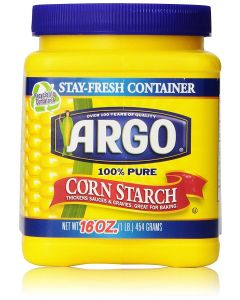 Argo 100% Pure Corn Starch - Thickens Sauces & Gravies, Great For Baking - 16oz