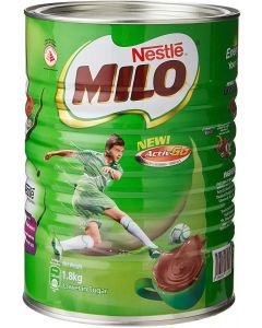 NESTLÉ MILO Chocolate Malt Beverage Mix, 3.3 Pound Can (1.8kg) | Fortified Powder Energy Drink