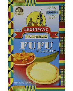 Tropiway Plantain Fufu Flour - Paleo Friendly - Glutten Free 24oz