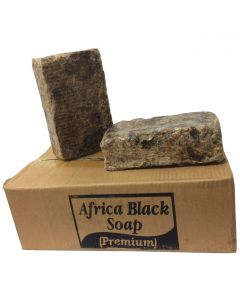 African Raw Black Soap 100% Pure Organic Unrefined - From Ghana - 5lb bar