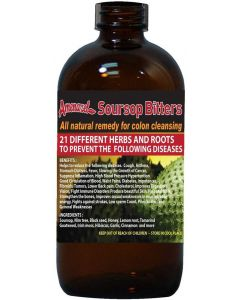 Amenazel Soursop Bitters -  Natural Remedy for Colon Cleansing - 16oz