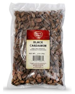 Spicy World Black Cardamom Pods (Cardamum / Elaichi) Indian Spice- 3.5 Oz