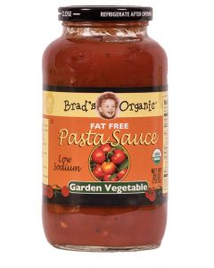 Brad's Organic - Fat Free Pasta Sauce - Garden Vegetable - 26oz