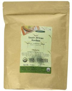 Davidson's Tea Bulk Bag, Organic South African Rooibos Premium Caffeine-Free Loose Leaf Tea, 1 lb