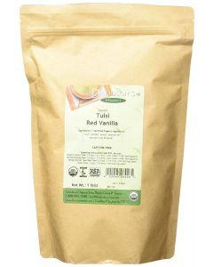 Davidson's Tea Bulk Bag, Organic Tulsi Red Vanilla, Premium Caffeine-Free Loose Leaf Tea Tulsi Blend, 1 lb