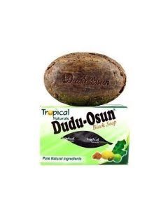 Dudu-Osun African Black Soap, Pure Natural Ingredients - Plant-Based, Contains Shea Butter--Pack of 12