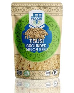 Jeb Foods Egusi Grounded Melon Seeds, 100% Pure Ground Melon Seed, Grain-Free, Gluten-Free, Keto- and Paleo- Certified, 8 oz
