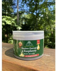 Essential Palace Organic Whipped Bamboo Charcoal & Raspberry Body Butter with Bergamot Extracts - 6oz