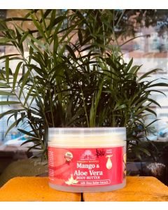 Essential Palace Organic Whipped Mango & Aloe Vera Body Butter with Shea Butter Extracts - 6oz