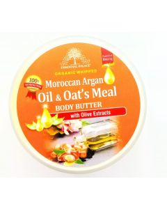 Essential Palace Organic Whipped Moroccan Argan Oil & Oat's Meal Body Butter with Olive Extracts - 6oz