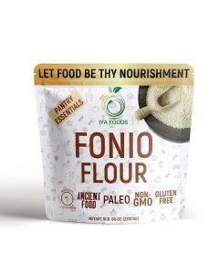 Iya Foods Fonio Flour,  Ancient African grain, All Natural Gluten-free, Vegan, Paleo, Non-GMO Supergrain, 5 lb