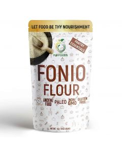 Iya Foods Fonio Flour,  Ancient African grain, All Natural Gluten-free, Vegan, Paleo, Non-GMO Supergrain, 1 lb