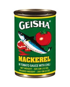 Geisha Mackerel in Tomato Sauce with Chili (Geisha Green Large) - 15 oz