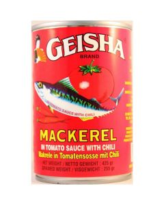 Geisha Mackerel in Tomato Sauce with Chili (Geisha Red Large) - 15 oz