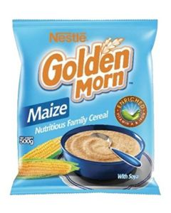 Nestle Golden Morn Instant Cereal (Maize) - Corn Cereal - Rich in Vitamin A and Iron - 500g