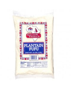 Golden Tropics Plantain Fufu | Plantain Flour - 10 lbs