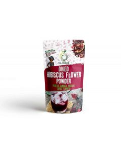 Iya Foods Dried Hibiscus Flower Powder (Roselle or Sorrel) 100% Pure Hibiscus Flower, Vegan, Gluten-Free, Great for drinks, cooking, baking, health & beauty --4 oz