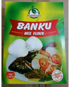 All Natural HomeFresh Banku Mix Flour - Gluten-Free - Alternative to Wheat Flour in Savory Cooking & Baking  - 2.2Lbs
