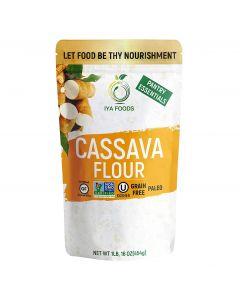 Iya Foods Cassava Flour All Natural Gluten-free, Non-GMO African Cassava (Yuca) Flour, 1 lb