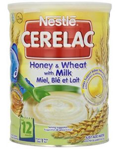 Nestle Cerelac - Honey and Wheat with Milk - Nutritious Instant Cereal For Toddlers, 12 Months & Up  - 1KG - 2.2 Lbs (England)