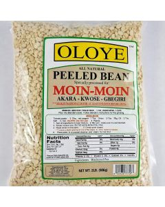 Oloye - All Natural Peeled Bean Specially  Processed For Moin-Moin Akara - Kwose - Gbegiri - 2lbs