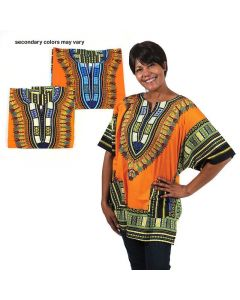 African Traditional Dashiki - Orange