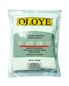Oloye Fermented Cornflour Specially processed for Ogi - Akamu - Koko - Pap - 1 lb