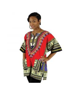 African Traditional Dashiki - Red