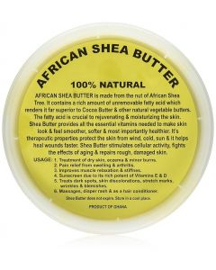 Unrefined African Shea Butter - Gold, 100% Pure & Raw - 16 oz