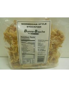 Bonne-Bouche Norwegian Style Stockfish Bits - Loads of Calcium & Iron -  Long-lasting - (De-Hydrated Fish) - 12oz