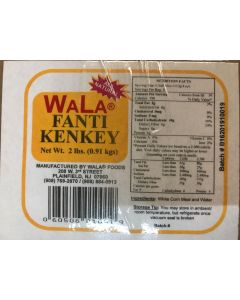 All Natural Fanti Kenkey | (Sour Dough Dumpling) - Pack of 2 - 2 lbs