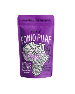 Yolélé Fonio Grain Pilaf Mix - Afro-Funk: Dawadawa + Herbs, Gluten Free, Nutrient-Rich, Organic, Ancient Grain-7 oz