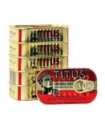 Titus Sardines - Convenient, Easy-to-Use, Omega-3-Rich, Sardines in Vegetable Oil - Pack of 5 (10X125g)