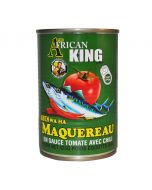 African King Brand Mackerel in Tomato Sauce with Hot Chili - 15 oz