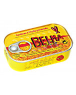 Belma Sardines – Spicy – A Pepper  Kick- Full of Flavor - Premium Quality Sardines - Rich in Omega-3s - 125g (Pack of 5)