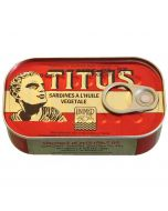 Titus Sardines Regular - Sealed in Vegetable Oil, Rich in Omega3s - 125g